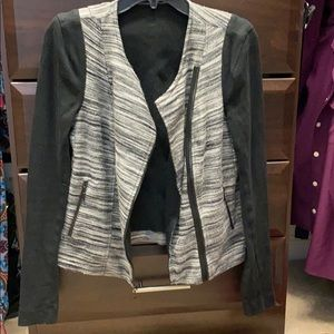 Three Dots moto jacket in comfy cotton size small